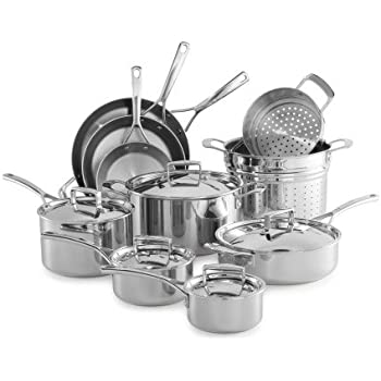 Amazon Com Sur La Table Tri Ply Stainless Steel 15 Piece