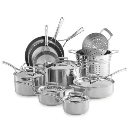 Sur La Table Tri-Ply Stainless Steel 15-Piece Set SLT-0001235