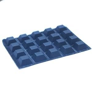 Autoadhesivas Square castillo negro patas de goma topes 1,3 cm (13 mm) DX 0,64 cm (6,4 mm) H (20 PKG)