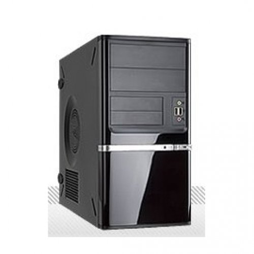 In Win IW-Z638T.CQ350TBL MicroATX Mini Tower Computer Case with 350W Power Supply Black/Silver