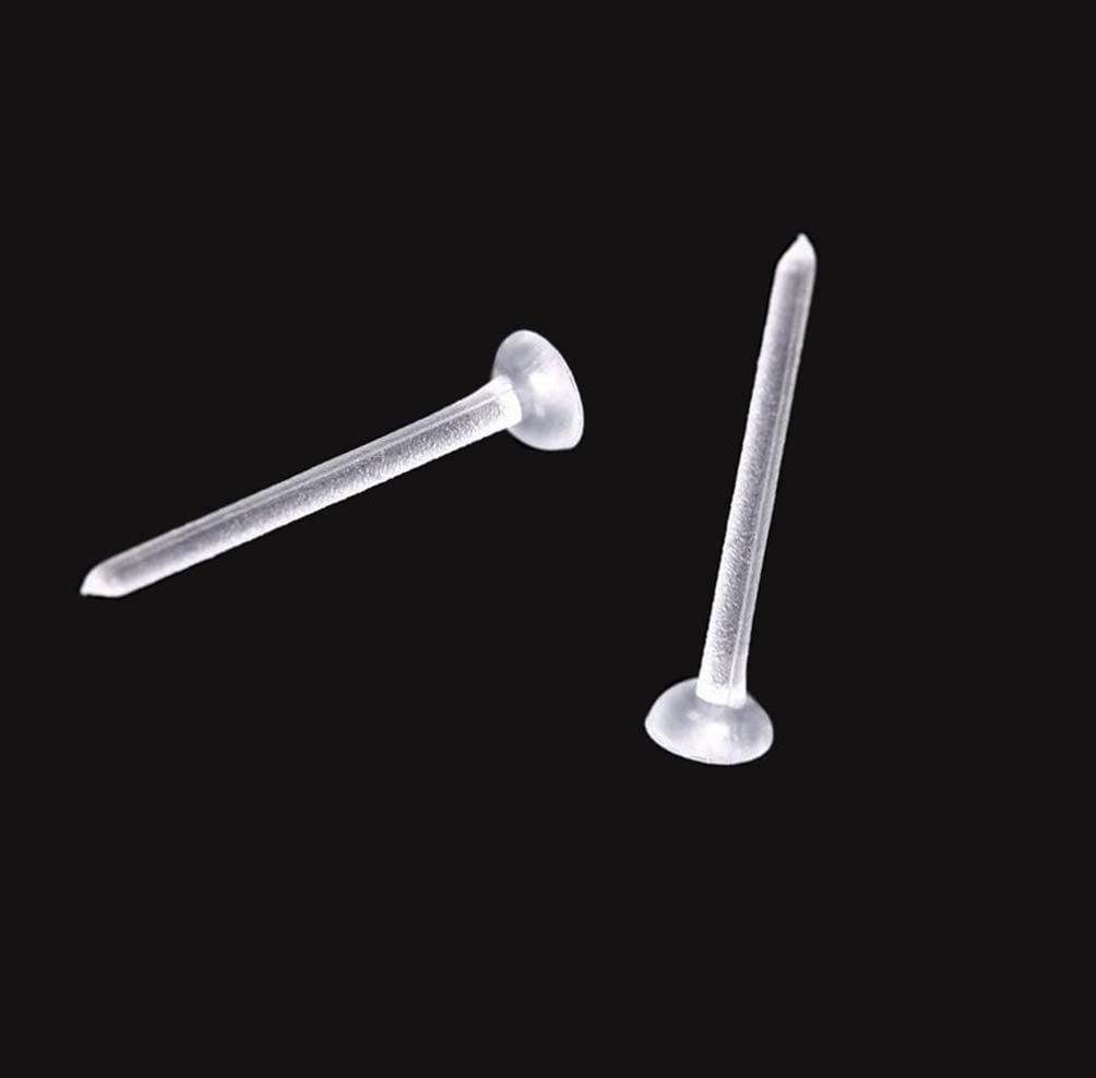 50Pairs Clear Plastic Rubber Eearring Backs 50Pairs Earring Posts Ear Pins Studs Safety Earnuts Earring Findings for Men and Women