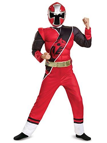 Disguise Ranger Ninja Steel Muscle Costume, Red, Medium (7-8) for $<!--$19.95-->