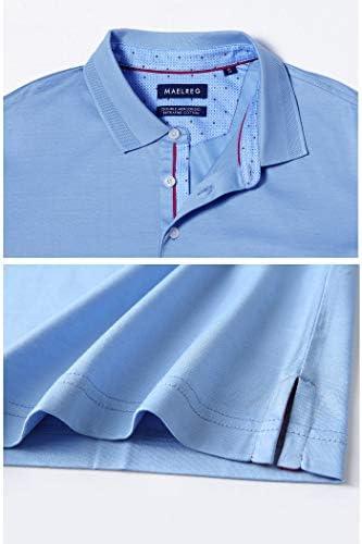 41ogcPPYpHL. AC M MAELREG Men's Mercerized Cotton Short Sleeve Pima Polo Shirts Casual Collared Shirts    Product Description