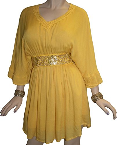 Yellow Baby Doll Dress - 5
