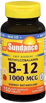 Sundance B-12 1000 mcg Fast Dissolve - 150 Tablets, Pack of 6