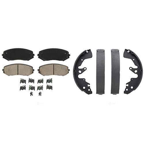 (AutoDN Front and Rear Ceramic Disc Brake Pad and Brake Shoes Set For 2007-2008 SUZUKI GRAND VITARA)