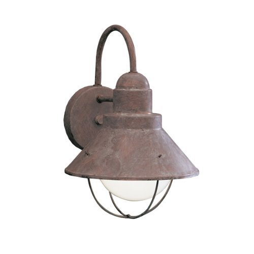 9022OB Seaside 1LT 12IN Exterior Wall Mount, Olde Brick Finish by Kichler