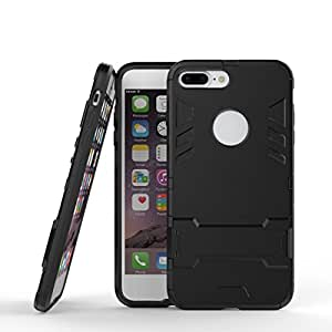 Hybrid Armor Protective iphone6splus Case Cover 2 in1 Stander Phone Case iphone 6 plus For iphone 6splus Hard Plastic iphone6plus Black Men's Heavy Duty Two Layer Phone Case for 5.5 inch IKC