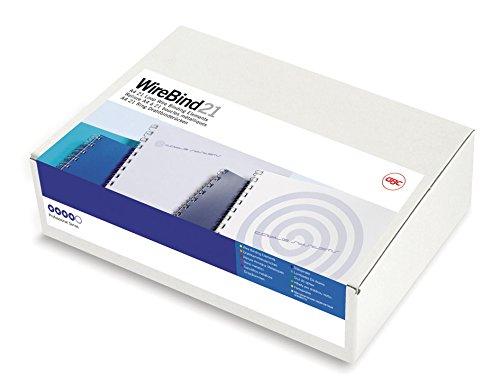 85 Blatt silber A4 100 St/ück Farbe silber R/ückenbreite 10 mm f/ür 85 Blatt Inhalt 100 St/ück Drahtbinder/ücken WireBind 21 10 mm