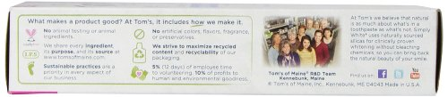 Tom's of Maine Natural Simply White Toothpaste, Sweet Mint Gel, 4.7 Ounce, Pack of 6 by Tom's of Maine (Image #2)