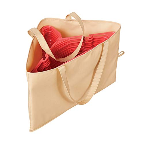 Hanger Storage Bag with Handles for Space Saving and Easier Storage in Closets