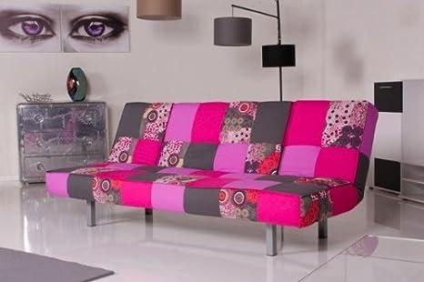 Divano letto patchwork : Kasper wohndesign divano letto colour er sofa tessuto patchwork