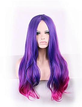 pelucas del anime puntos gradiente de color púrpura en el pelo del nilón de 26 pulgadas