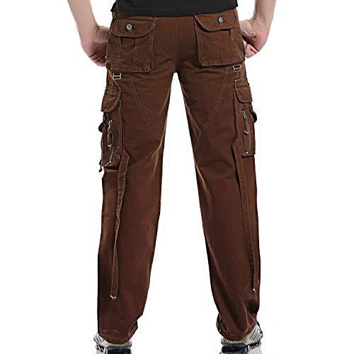 Pour Survêtement Armée Pantalons Multi Rouge Air Style De Militaire Hommes Cargo En Avec Plein Simple Camouflage Amayay Pantalon poches O7PqROI