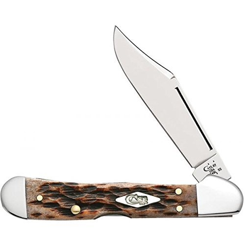 Mini Copperlock Knife (Case Harvest Moon 13640 Honey Brown Bone Handle Mini CopperLock Knife)