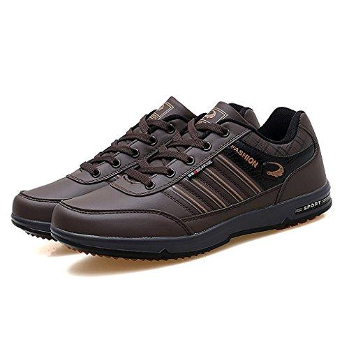 Herbst Winter Männer Casual Sport Laufschuhe Atmungsaktive Sport Wanderschuhe Low-Top Sneakers Walking Trainer Schuhe 39-44 Brown