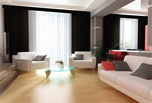 CSFOTO 7x5ft Background for Classic Living Room Photography Backdrop Modern Design Sofa Bright Apartment Home Indoor Interior Clean Wood Floor House Home Photo Studio Props Polyester Wallpaper]()