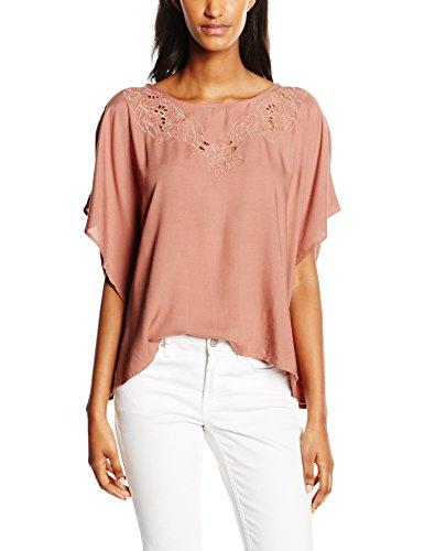 Only Onlanine S/S Top Wvn, Camiseta para Mujer Marrón (Cognac)