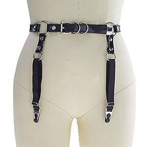 Garter Belt Women's Handmade Adjustable Sexy Leather Suspender Belt For Stockings