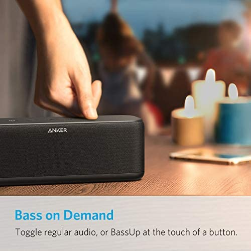 Portable Speakers, Anker Soundcore Boost 20W Bluetooth Speaker with BassUp Technology, 12H Playtime, IPX5 Water-Resistant, Wireless Speaker with Superior Sound & Bass for iPhone, Samsung and More 41oggBdlDwL