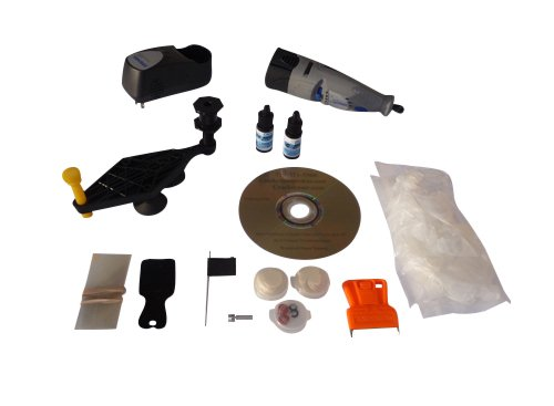 Crack Eraser: Diy-Professional Windshield Crack and Chip Repair Kit for 25 Repairs. Reusable Tools