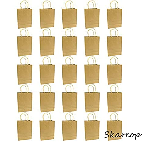 Skareop Bolsas de Papel Kraft, 25 Unidades, Color marrón ...