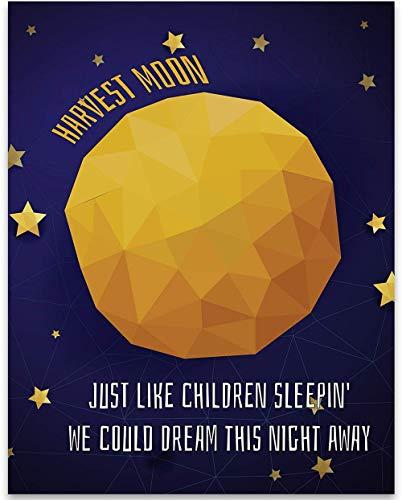 Song Lyrics Wall Decor - Harvest Moon by Neil Young - 11x14 Unframed Art Print Wall Decor - Makes a Great Gift Under $15 for Neil Young Fans - Harvest Moon Artwork