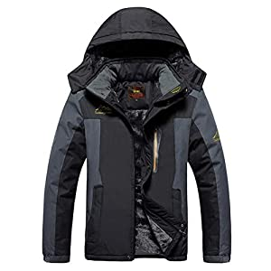 MAGCOMSEN Men's Waterproof Mountain Ski Jacket Windproof Fleece Jacket