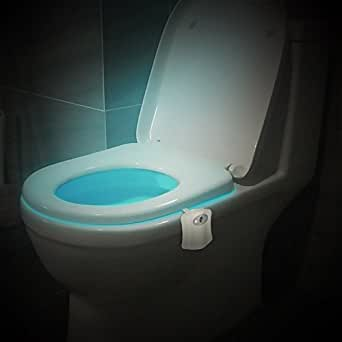 Hisonders Motion Activated Toilet Night Light 8 Color