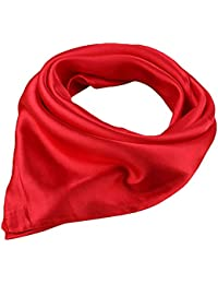 """Women Satin Square Scarf Wrap Silk Feel Solid Color Hair Scarf Accessory 23"""""""