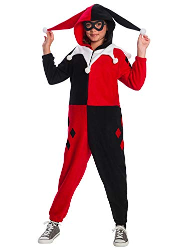 DC Super Heroes Girl's Harley Quinn One-Piece Costume Jumpsuit, Medium]()