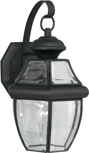 Forte Lighting 1201-01 Outdoor Wall Sconce from the Exterior Lighting Collection, Black