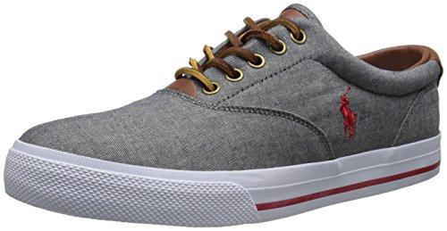 Polo Ralph Lauren Mens Vaughn Fashion Sneaker Grey/Red/Chambray Mn93A4OcnX