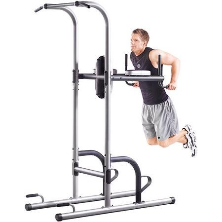 Golds-Gym-XR-109-Power-Tower-Vertical-Knee-Raise-Features-Several-Different-Stations