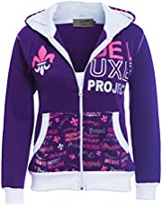 SS7 Chicas Chándal Jersey 2 Piezas Loungewear, Edad 7 a 13 años Púrpura, Negro