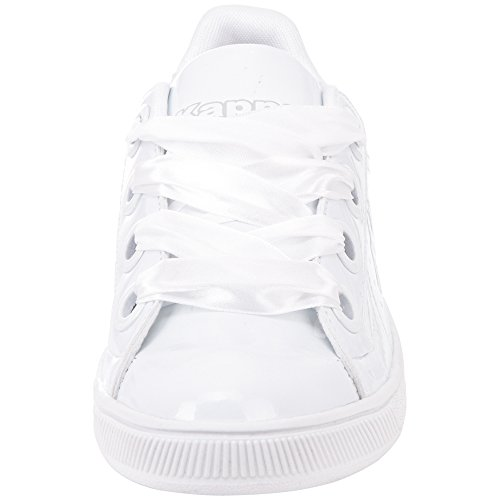 Basses 1016 Be grey Meseta Sneakers Shine white Kappa Femme Blanc AHwIFqB