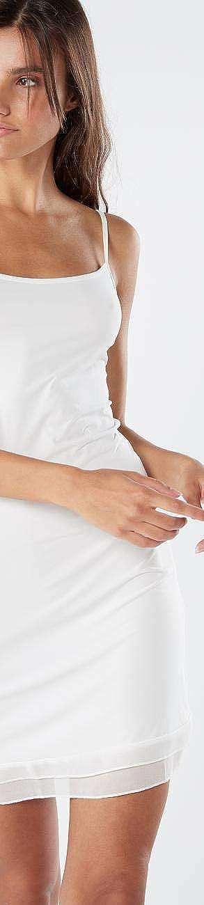 Intimissimi Womens Georgette-Ruffle Microfibre Slip
