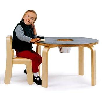 Kids Wood Chalkboard Table