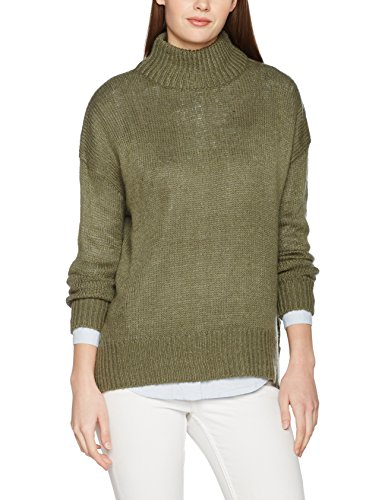 New Look Stand Neck Jumper, Suéter para Mujer Verde (Light Khaki)