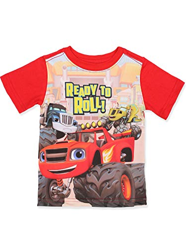 Blaze and The Monster Machines Boys Short Sleeve Tee (6, Red)