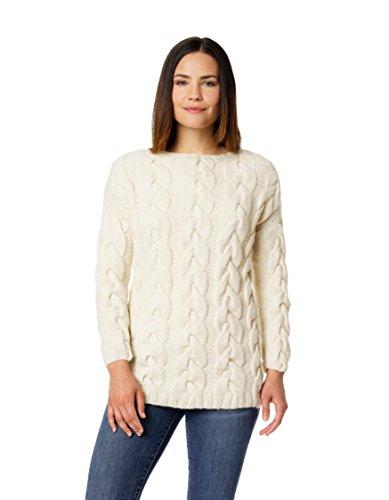 Alpaca Wool Womens Sweaters (Women's Alpaca Pujpu Cable Tunic Pullover Sweater)