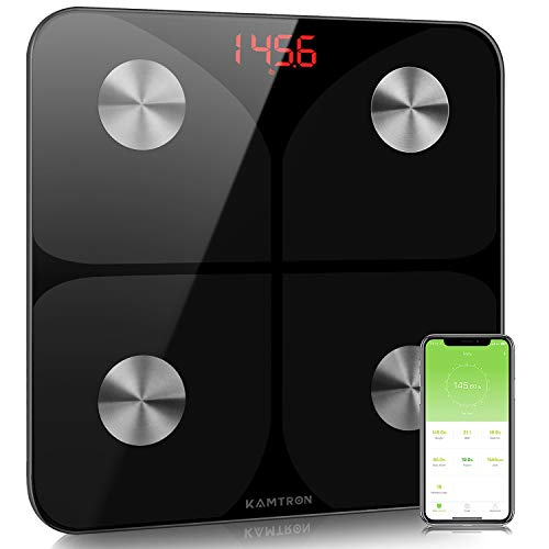KAMTRON Scales for Body Weight – Body Composition Analyzer Monitor Bathroom Body Fat Scales, High Precision Measuring…