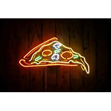 """Desung Brand New 24"""" Pizza Slice Neon Sign (Multiple Sizes Available) Custom Restaurant Food Shop Neon Lights Lamp Sports Bar Beer Signs Glass Neon Light CA104"""
