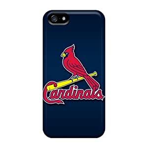 Rugged Skin Case Cover For Iphone 5/5s- Eco-friendly Packaging(st. Louis Cardinals)
