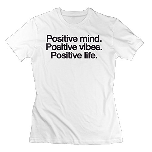 Womens Be Positive Graphic Design Colleges Tshirt