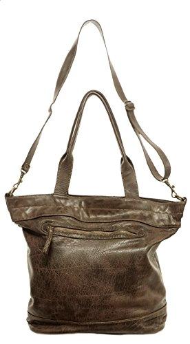 AGB, Borsa Donna, In Vera Pelle, Vintage, Modello CINZIA Bag, Made In Italy