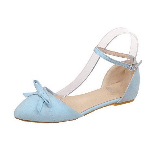 Aalardom Damesschoenen Met Dichte Neus En Hak Pu-sandalen Met Gesp Blauw
