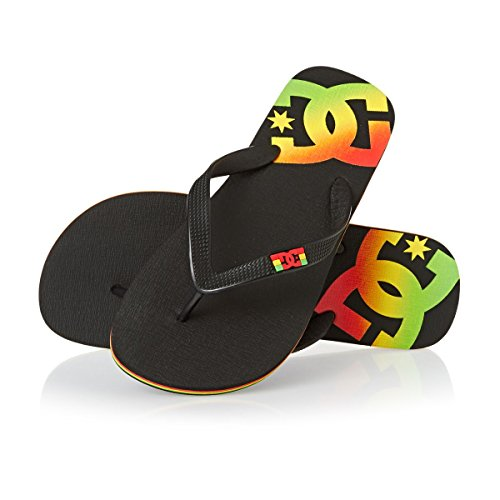 DC Comics Men's Spray Beach and Pool Shoes Black (Rasta Rst) vCmYEqnlzG