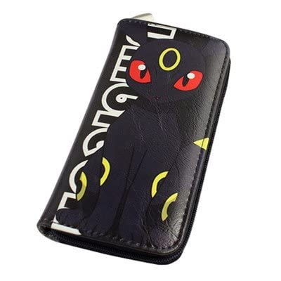 387966e31080 Portefeuille Homme Femme Maroquinerie Cuir Porte Monnaie Sac Sacoche Manga  Cosplay Pokemon Go Bag Pikachu Noir Organisateur Argent liquide