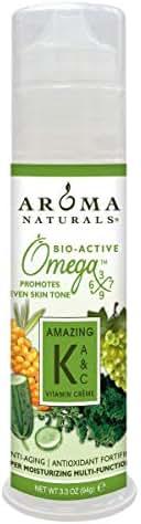 Aroma Naturals Vitamin K plus A and C Omega-X Moisturizing Vitamin Cream, 3.3 Ounce